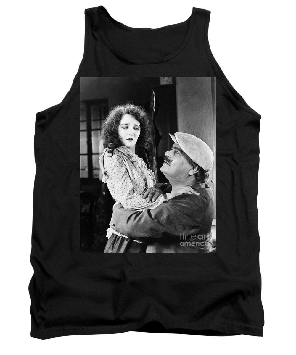 -one Man One Woman- Tank Top featuring the photograph Silent Still: Man & Woman by Granger