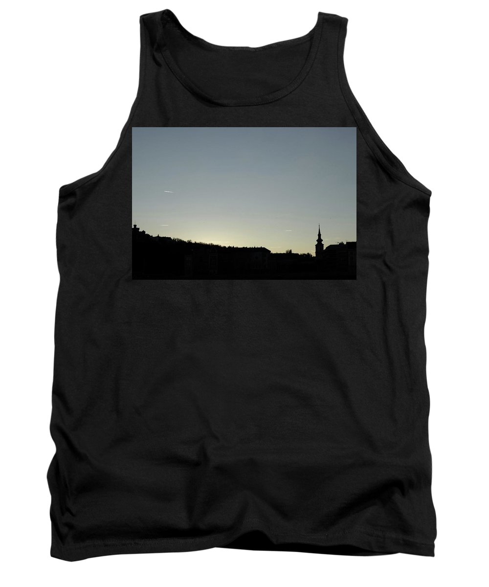 Danube Tank Top featuring the photograph Silhouette by Explorer Lenses Photography
