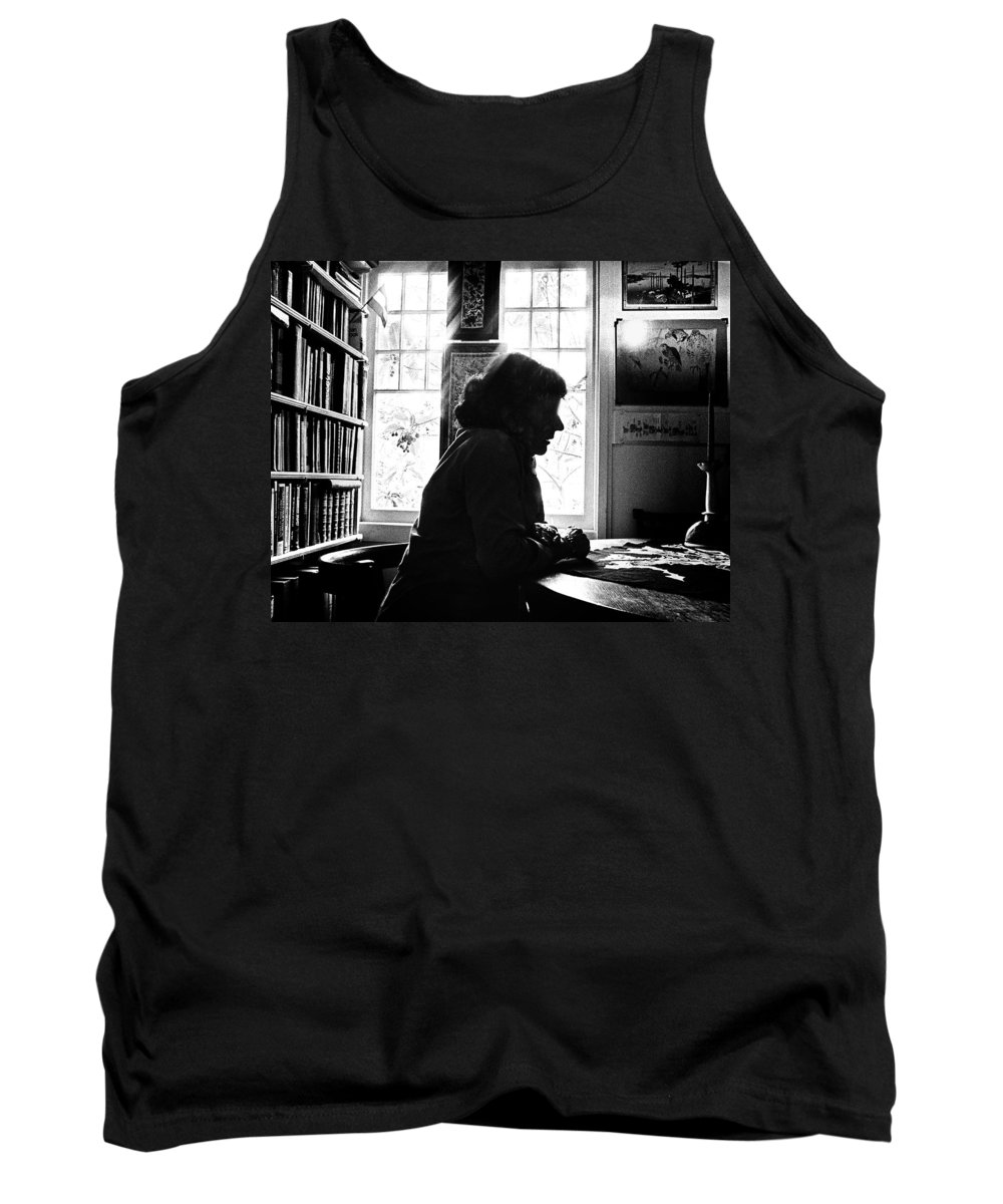 Woman Tank Top featuring the photograph Silhouette by Herman Robert