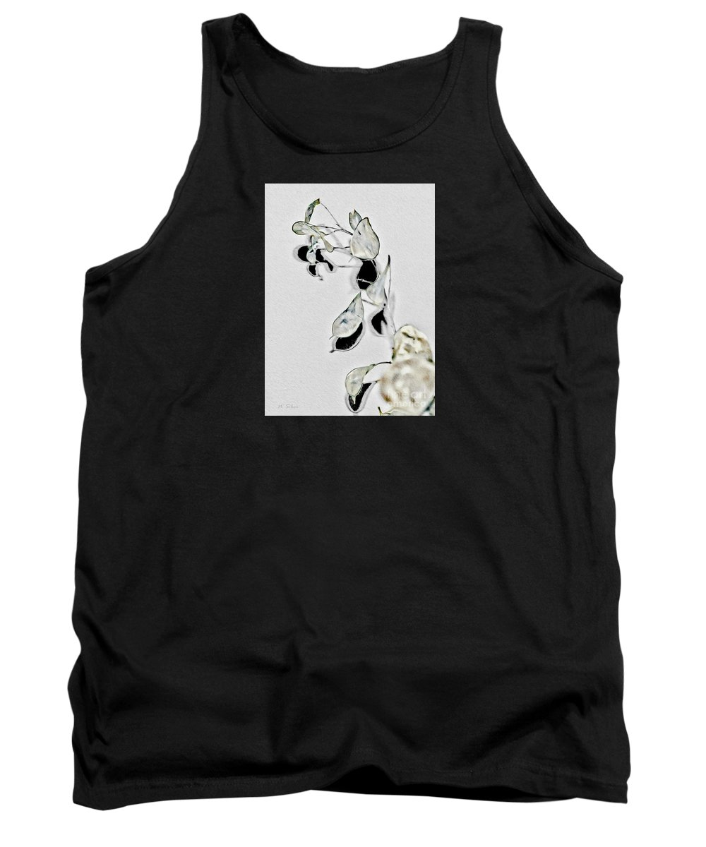 Silver Dollar Tank Top featuring the photograph Silver Dollar Abstract by Nina Silver