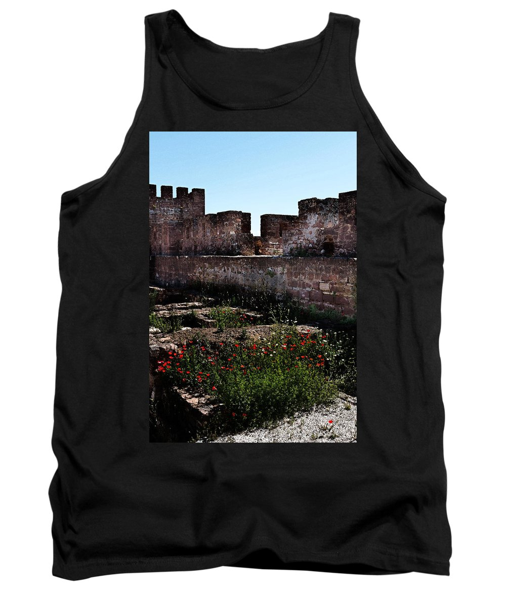 Silves Tank Top featuring the photograph Silves Castle by Louise Heusinkveld