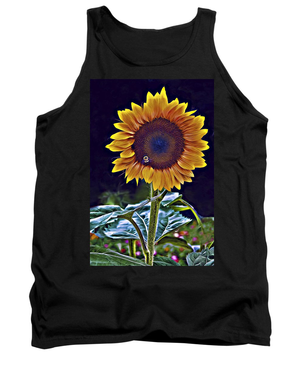Agriculture Tank Top featuring the photograph Single Flower by Maria Coulson
