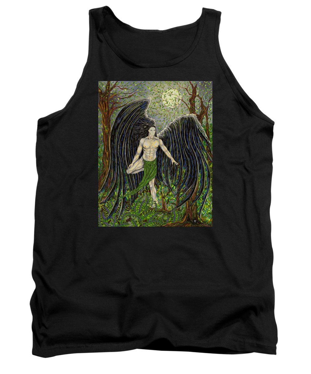 Angel Tank Top featuring the drawing Sioros by FT McKinstry