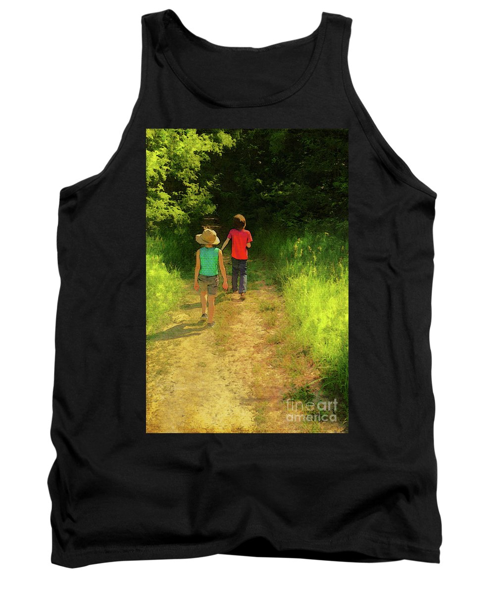 Sister And Brother Tank Top featuring the photograph Sister And Brother by John Anderson