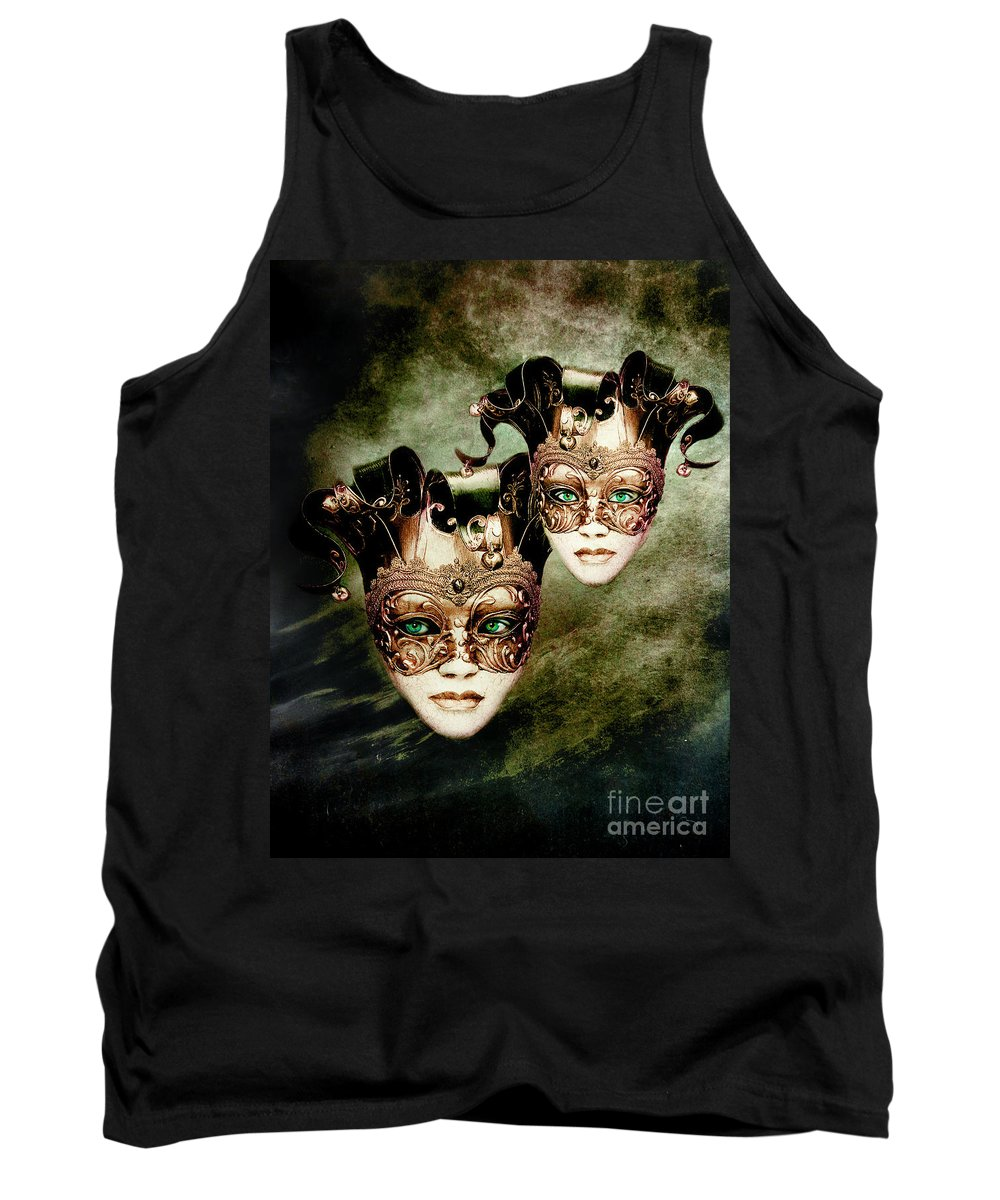 Woman Tank Top featuring the digital art Sisters by Jacky Gerritsen