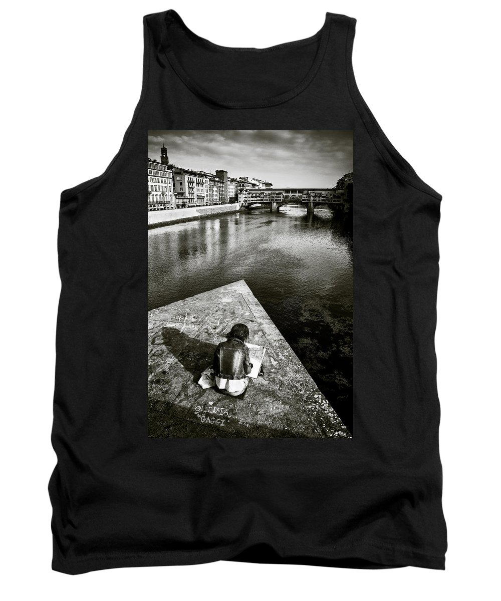 Sketching Tank Top featuring the photograph Sketching by Dave Bowman