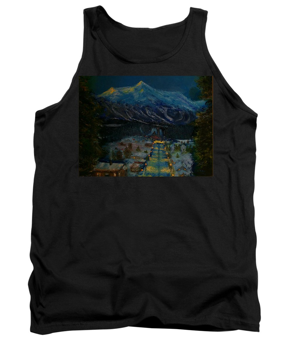 Winter Tank Top featuring the painting Ski Resort by Stephen King
