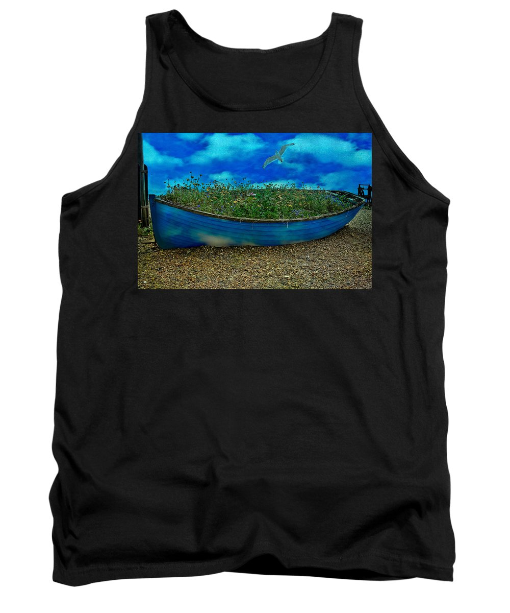 Sky Tank Top featuring the photograph Skyboat by Chris Lord