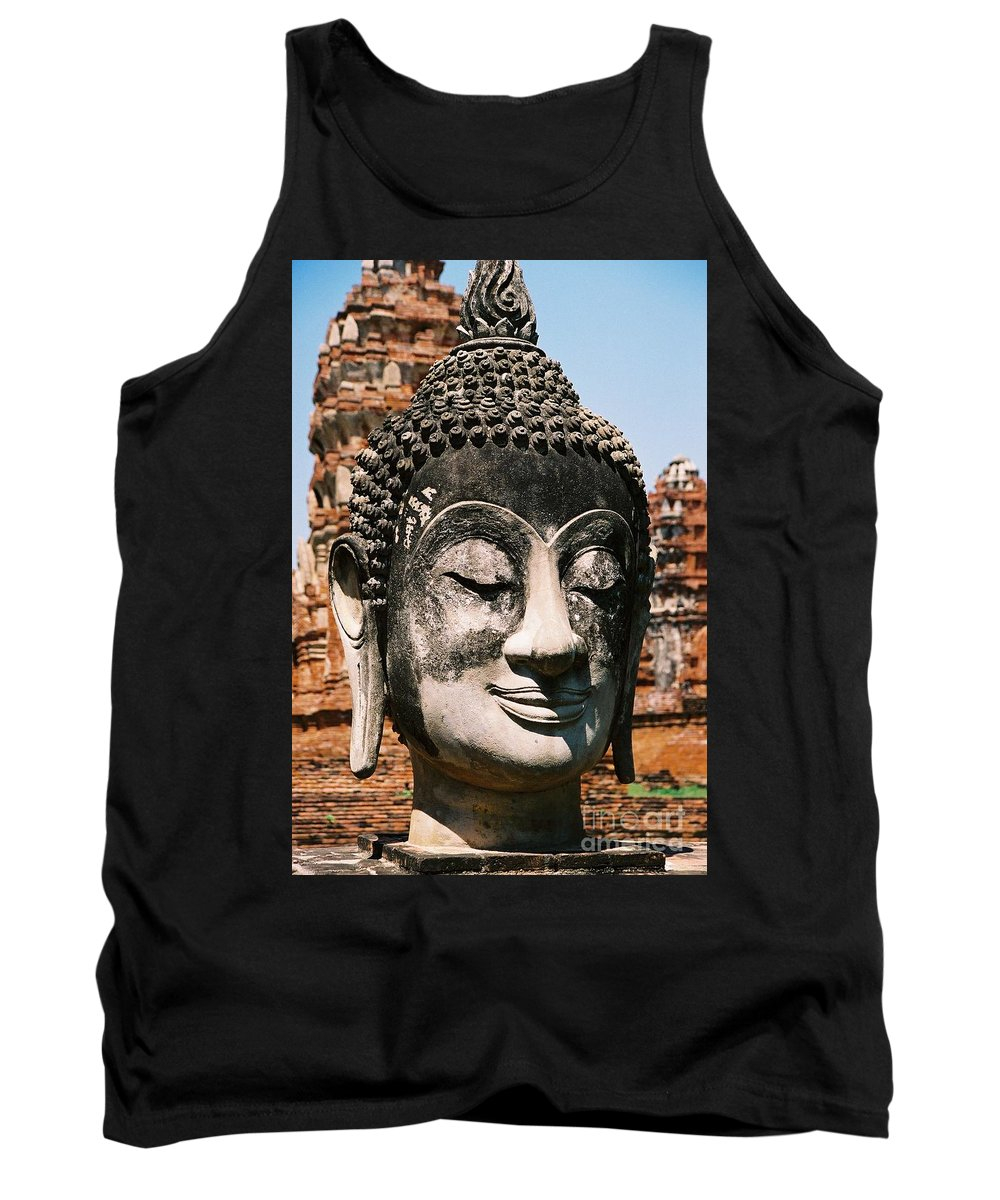Statue Tank Top featuring the photograph Sleepy Face by Mary Rogers