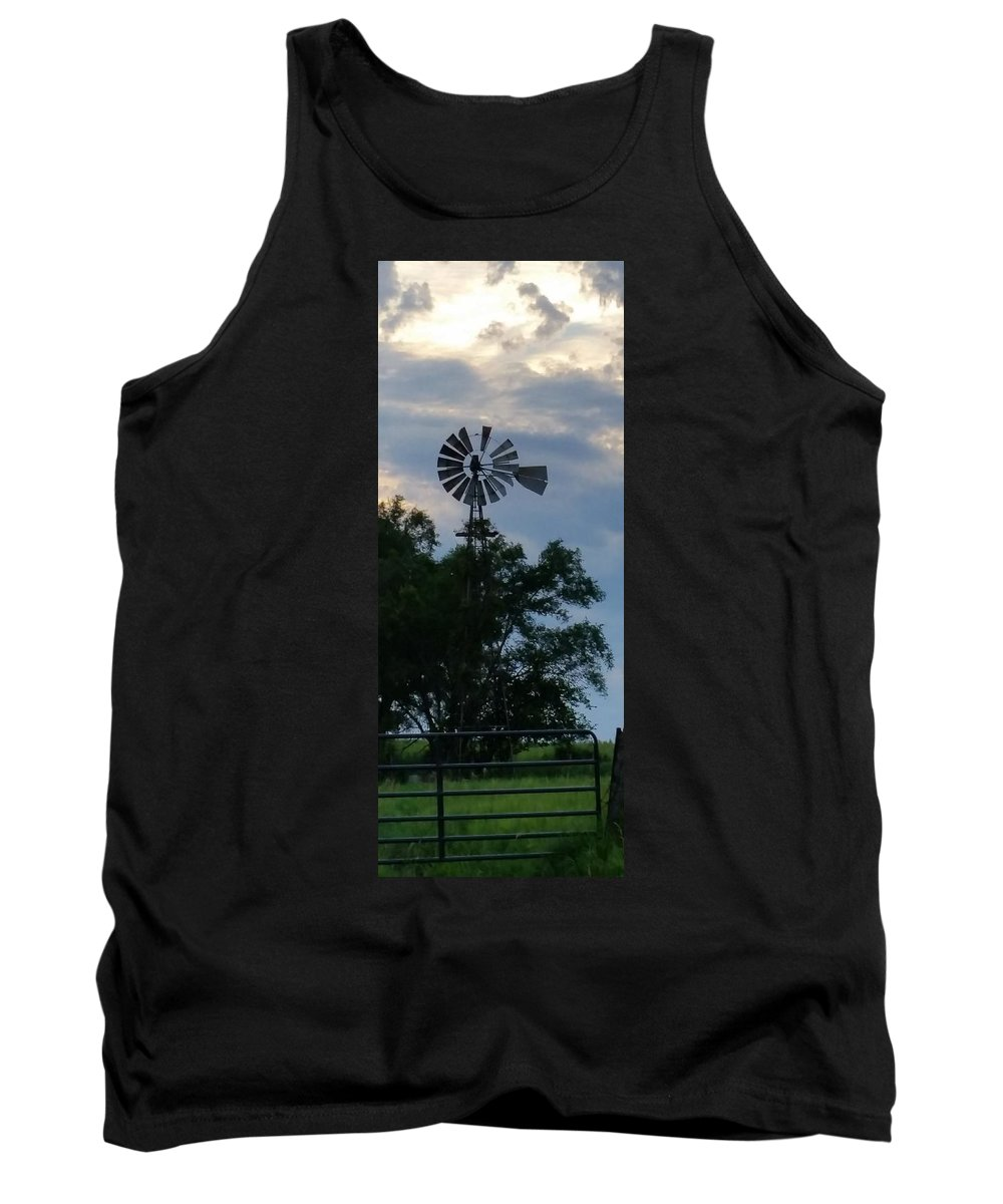 Landscape Tank Top featuring the photograph Slowly Blows The Wind by Caryl J Bohn