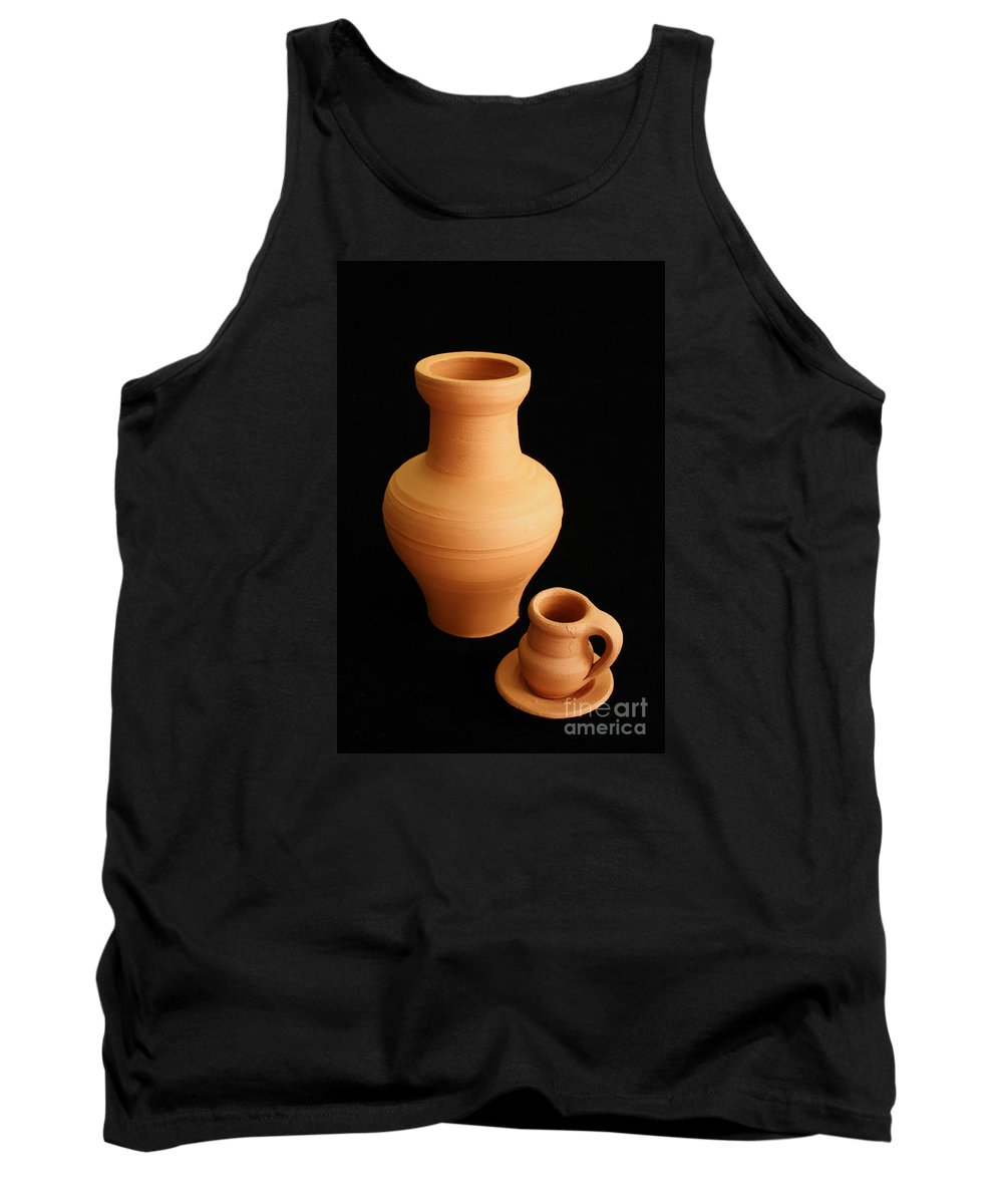 Ceramics Tank Top featuring the photograph Small Pottery Items by Gaspar Avila