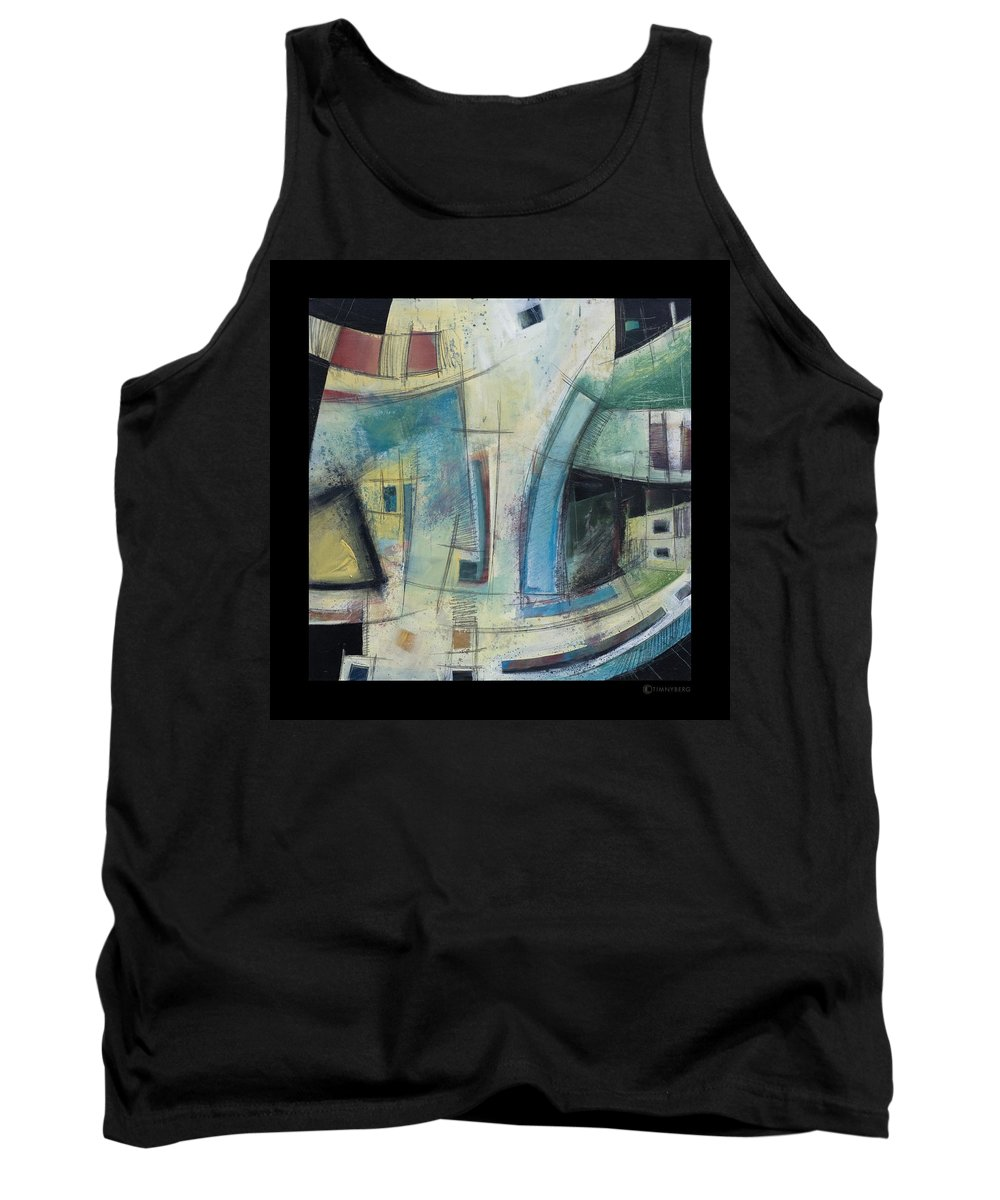 Abstract Tank Top featuring the painting Small Town Blues by Tim Nyberg