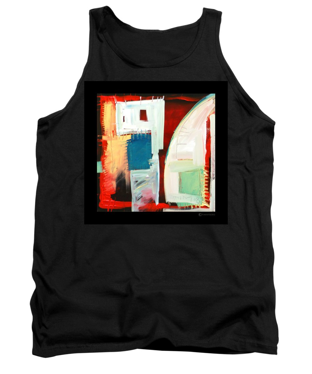 Color Tank Top featuring the painting Smilin by Tim Nyberg