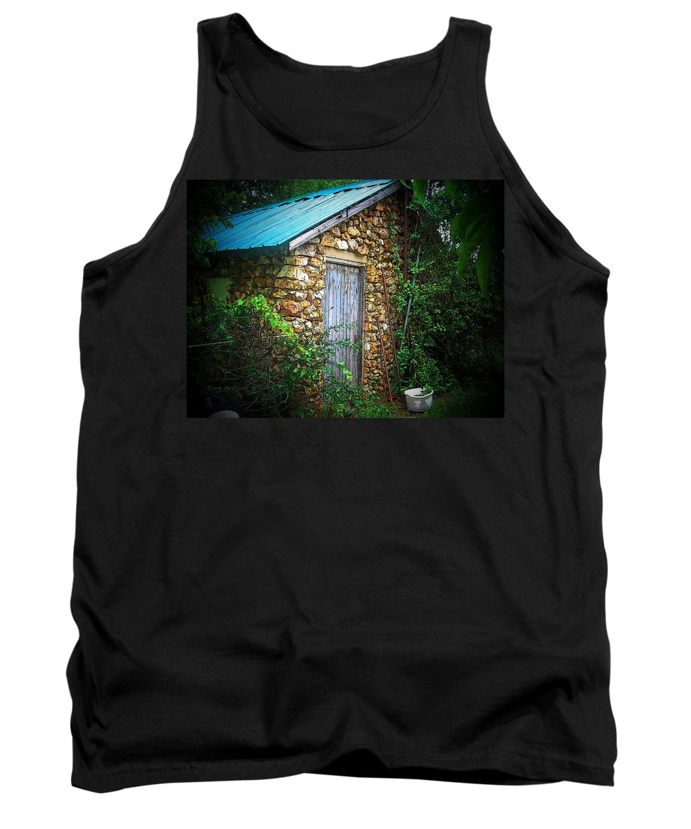 Smoke Tank Top featuring the photograph Smoke House by Terry Anderson