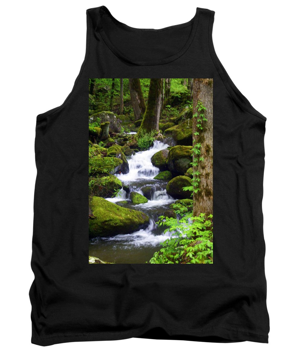 Great Smokey Mountains National Park Tank Top featuring the photograph Smokey Mountain Stream by Marty Koch