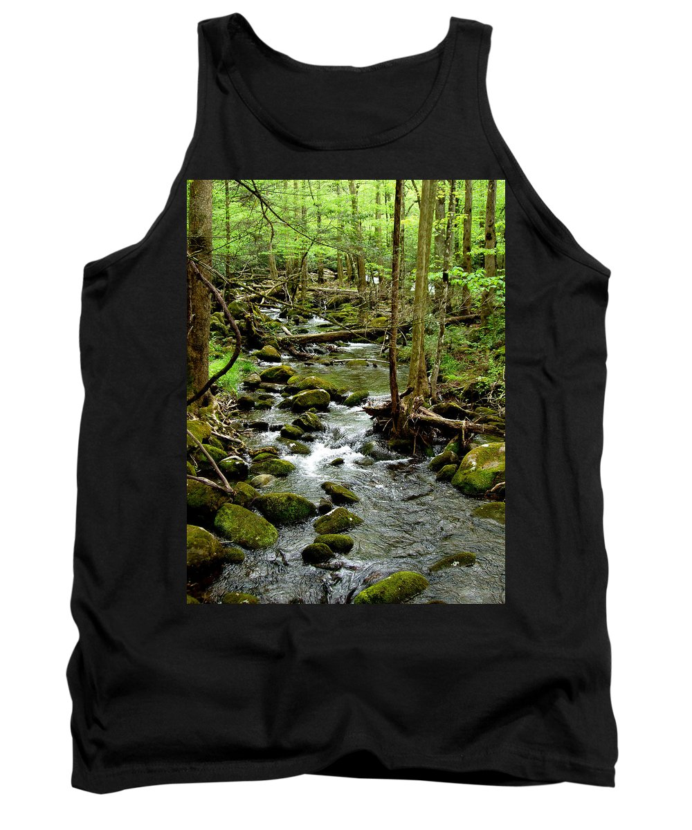 River Tank Top featuring the photograph Smoky Mountain Stream 2 by Nancy Mueller