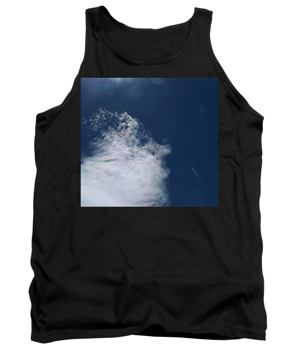 Strange Clouds Tank Top featuring the photograph Sneezing Drones 2 by Kit Kay