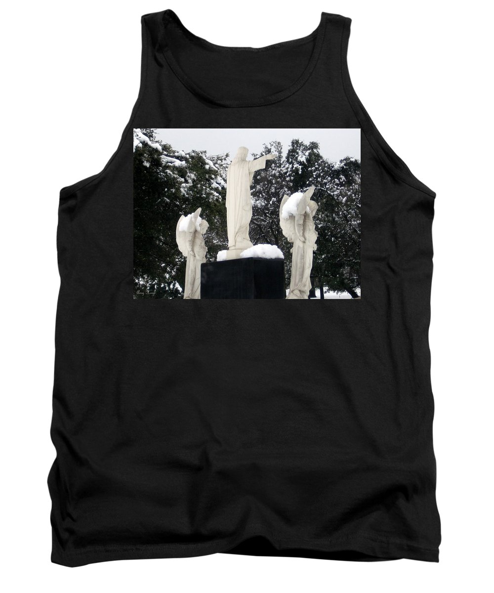Snow Tank Top featuring the photograph Snow On The Angels by Amy Hosp
