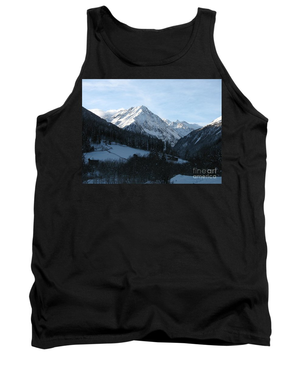 Snow Tank Top featuring the photograph Snow On The Mountains by Christiane Schulze Art And Photography