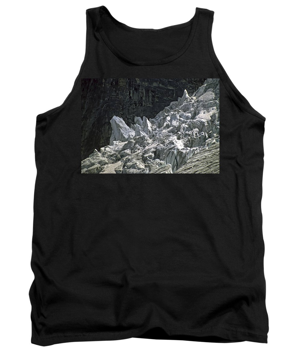 Bugaboos Tank Top featuring the photograph Snow Patch Spire IIi by Steve Harrington