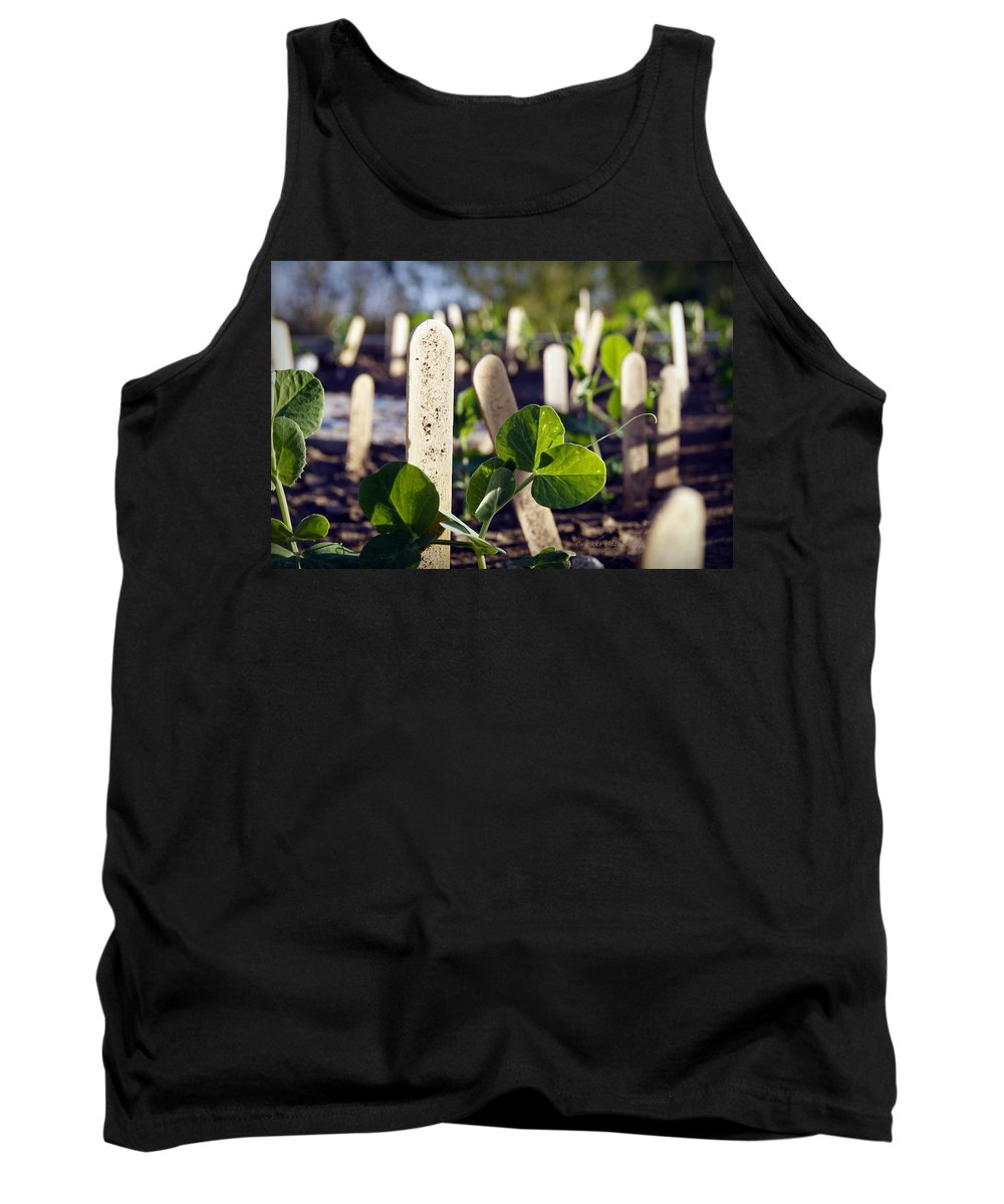 Peas Tank Top featuring the photograph Snow Peas Please by Cricket Hackmann