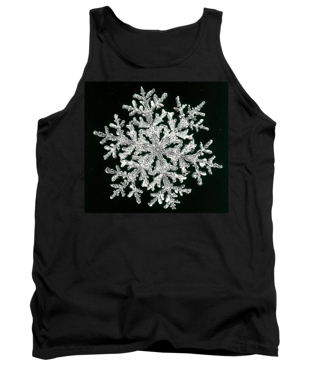 Snowflake Tank Top featuring the photograph snowflake I by Dragica Micki Fortuna