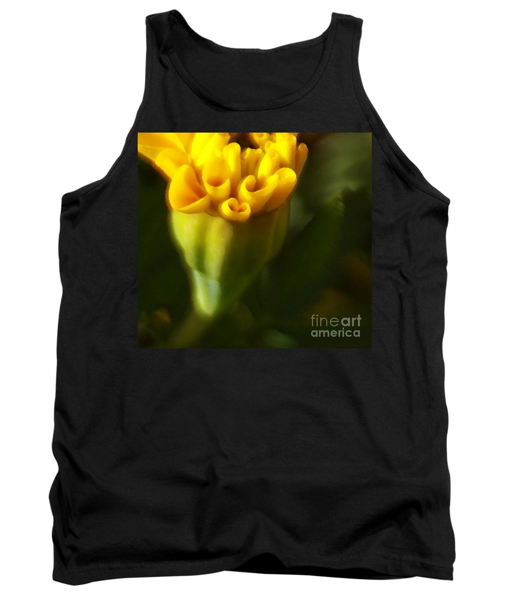 Yellow Tank Top featuring the photograph So Much More by Linda Shafer