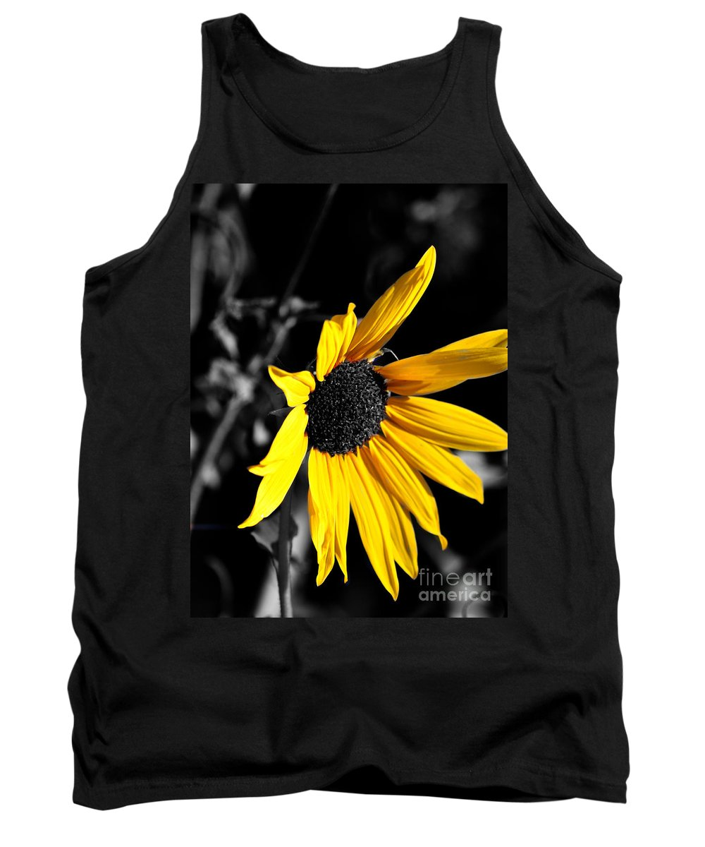 Clay Tank Top featuring the photograph Soaking Up The Yellow Sunshine by Clayton Bruster