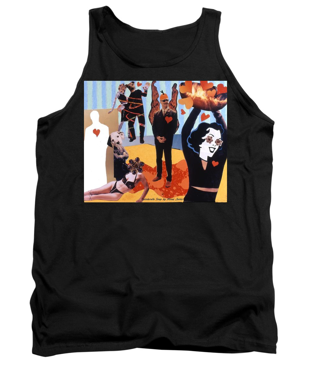 Hearts Tank Top featuring the drawing Soap Scene #18 Burn In Heaven At The Club Relish by Minaz Jantz
