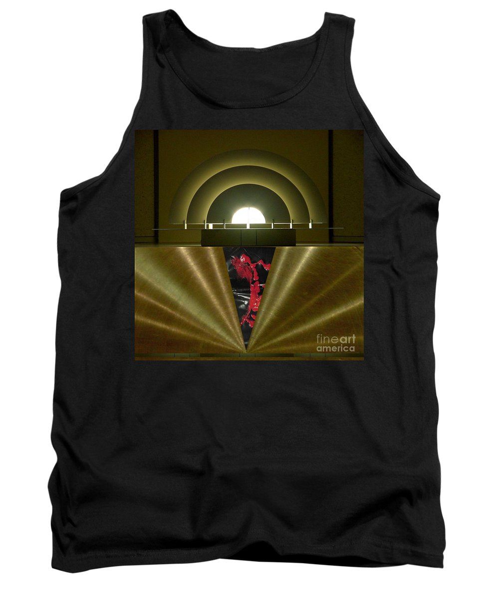 Digital Tank Top featuring the digital art Soft Light Hard Surface by Ron Bissett