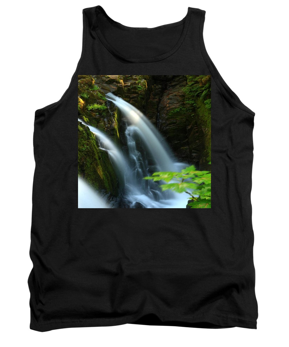 Columbia Gorge Tank Top featuring the photograph Sol Duc Falls 1 by Ingrid Smith-Johnsen