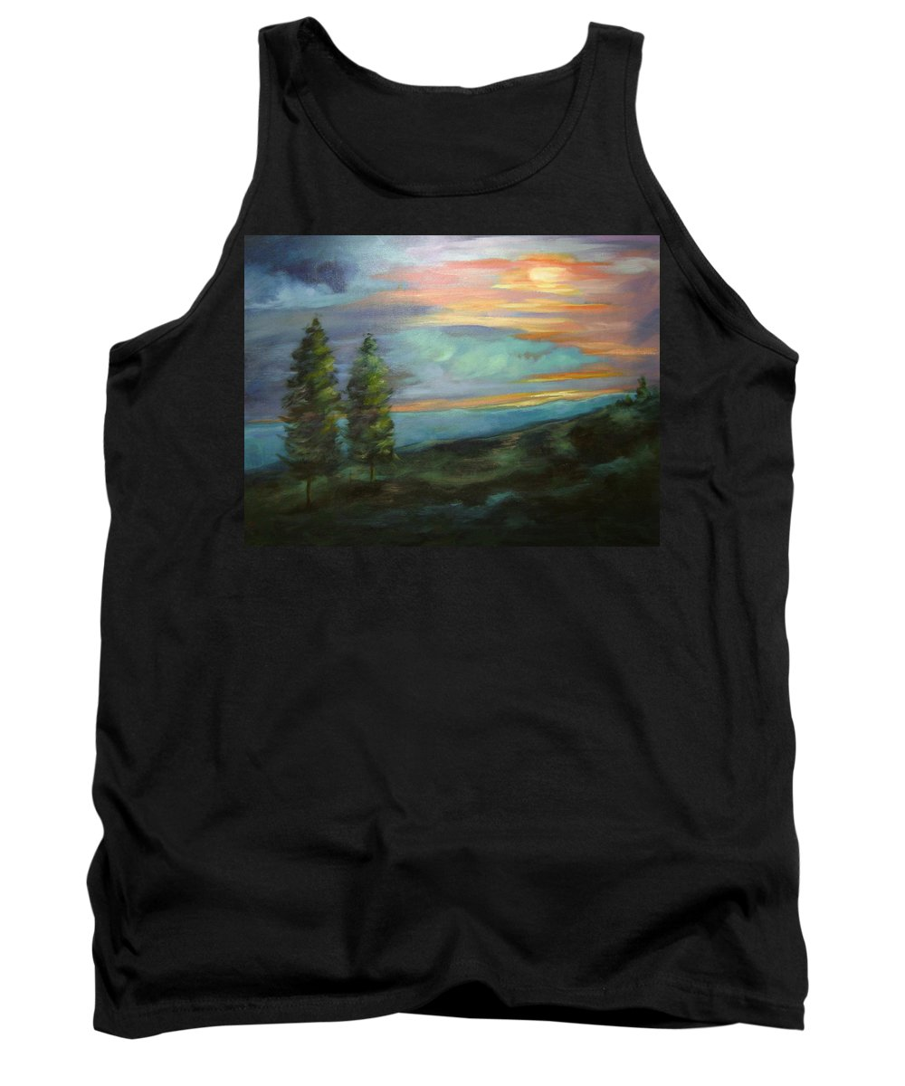 Landscape Tank Top featuring the painting Soledad by Ginger Concepcion