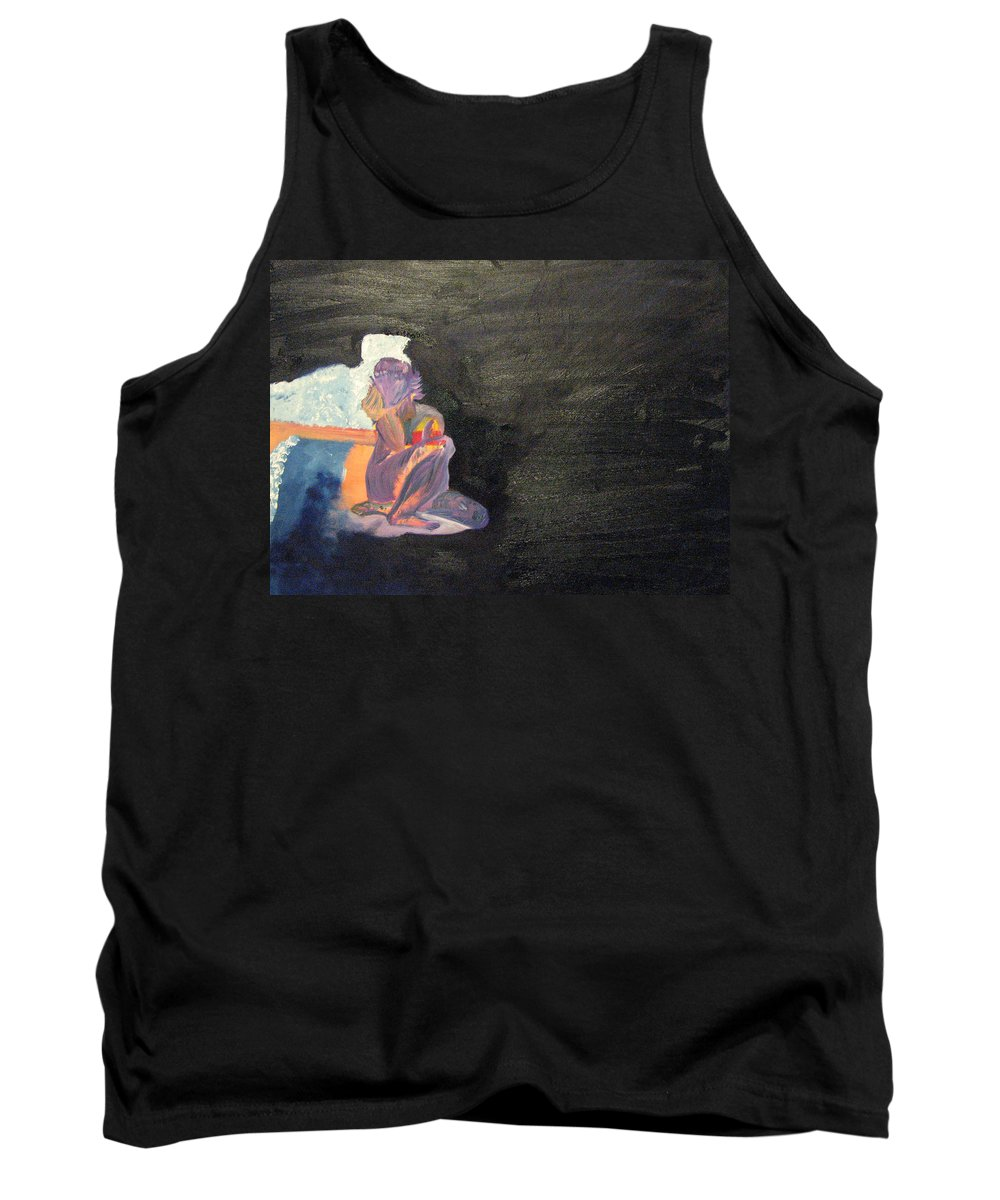 Mike Mooney Tank Top featuring the painting Solus by Michael Mooney