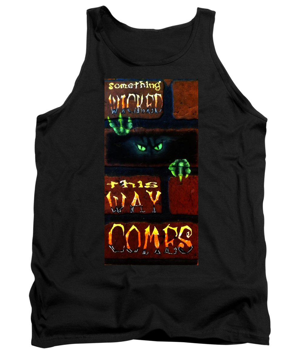 Halloween Tank Top featuring the painting Something Wicked by Beverly Restelle