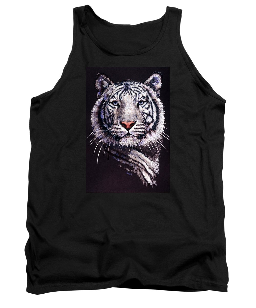 Tiger Tank Top featuring the drawing Sorcerer by Barbara Keith