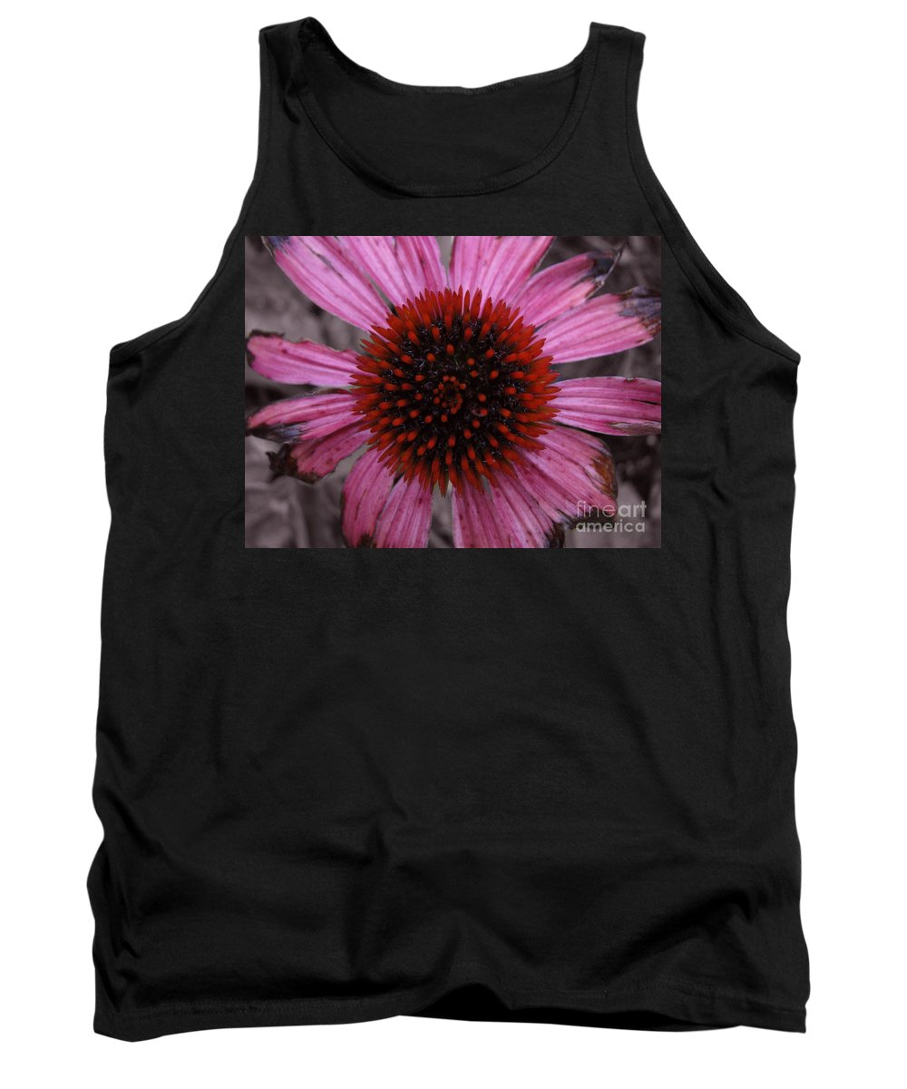 Echinacia Tank Top featuring the photograph Soul's Edges by Amanda Barcon