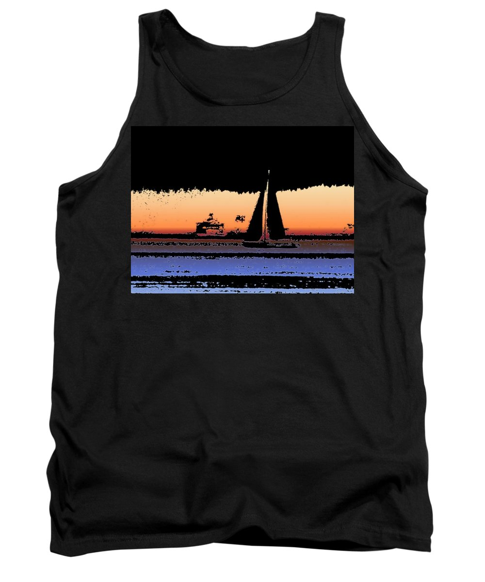 Seattle Tank Top featuring the photograph Sound Sailin 2 by Tim Allen