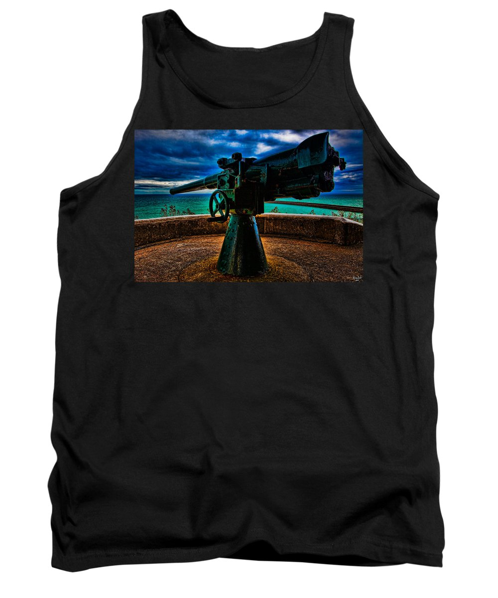 Gun Tank Top featuring the photograph Southern Defenses by Chris Lord