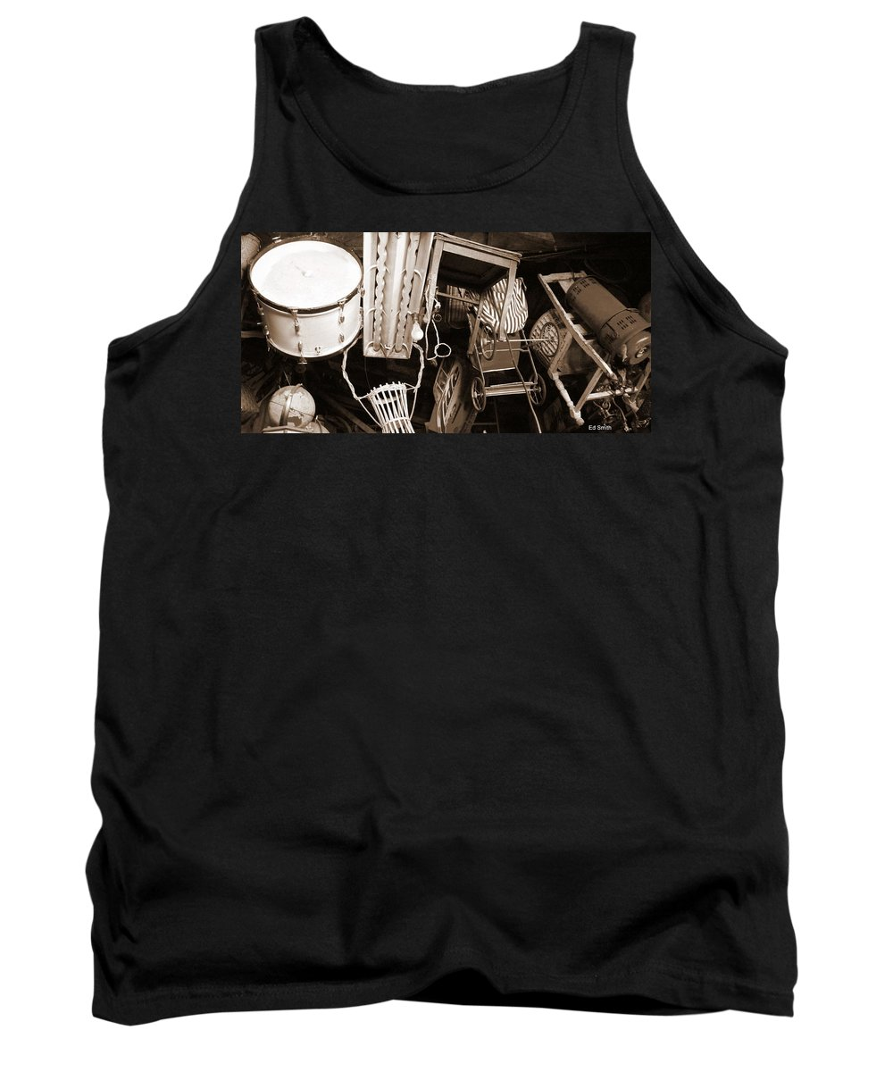 Space Junk Tank Top featuring the photograph Space Junk by Ed Smith