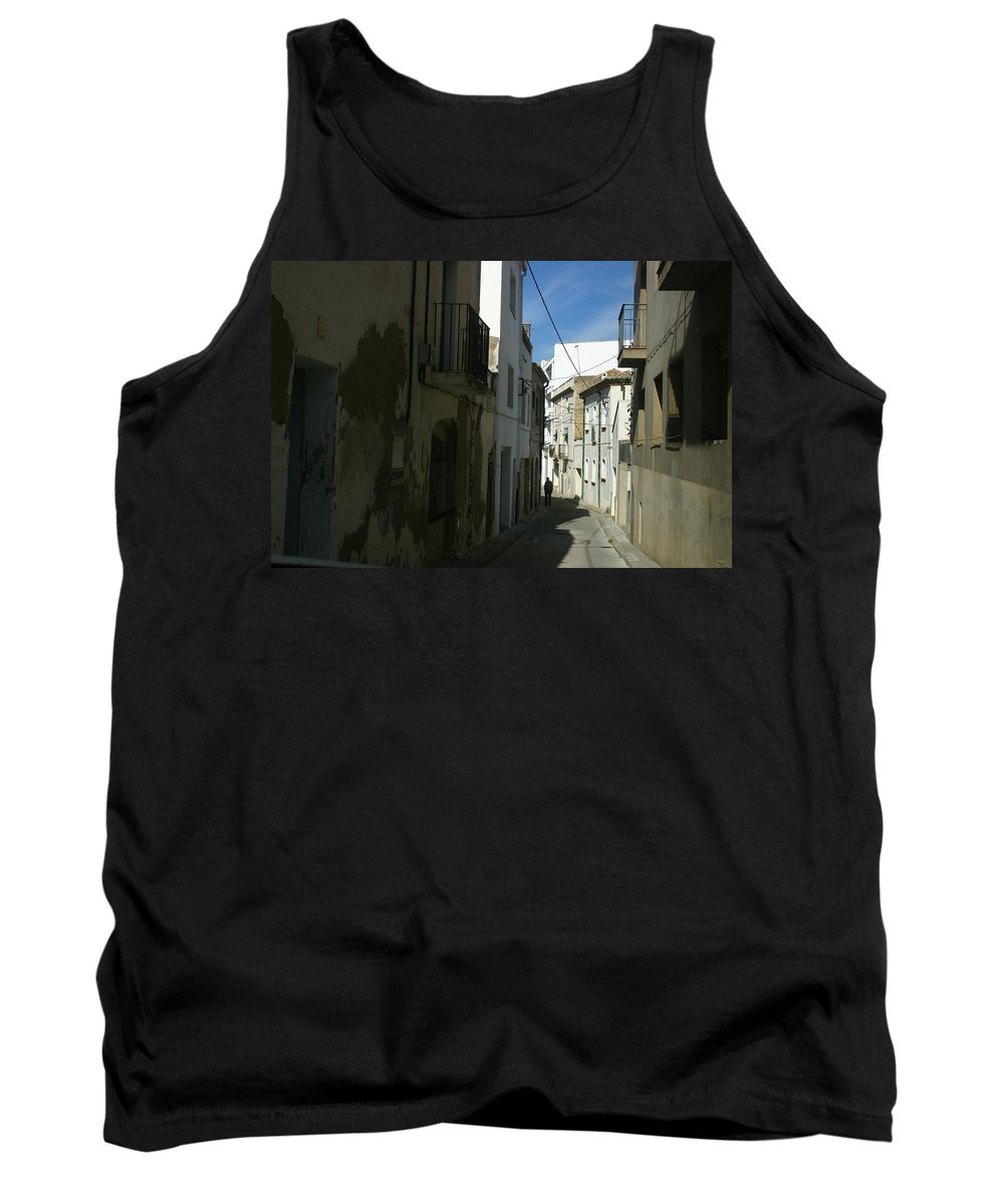 Spain Tank Top featuring the photograph Spain One Way by Minaz Jantz