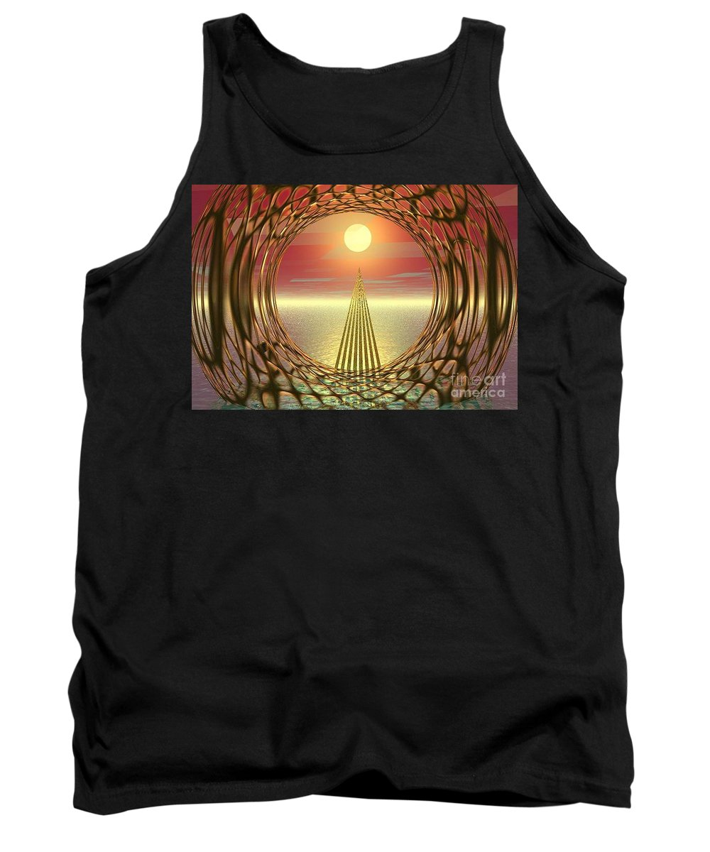 Abstract Tank Top featuring the digital art Sparkles Of Light by Oscar Basurto Carbonell