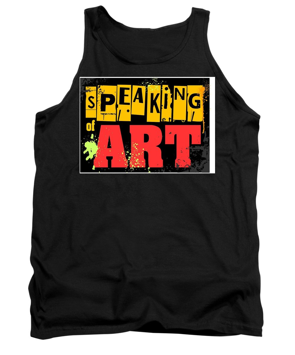 Tank Top featuring the digital art Speaking Of Art by Veronica Jackson