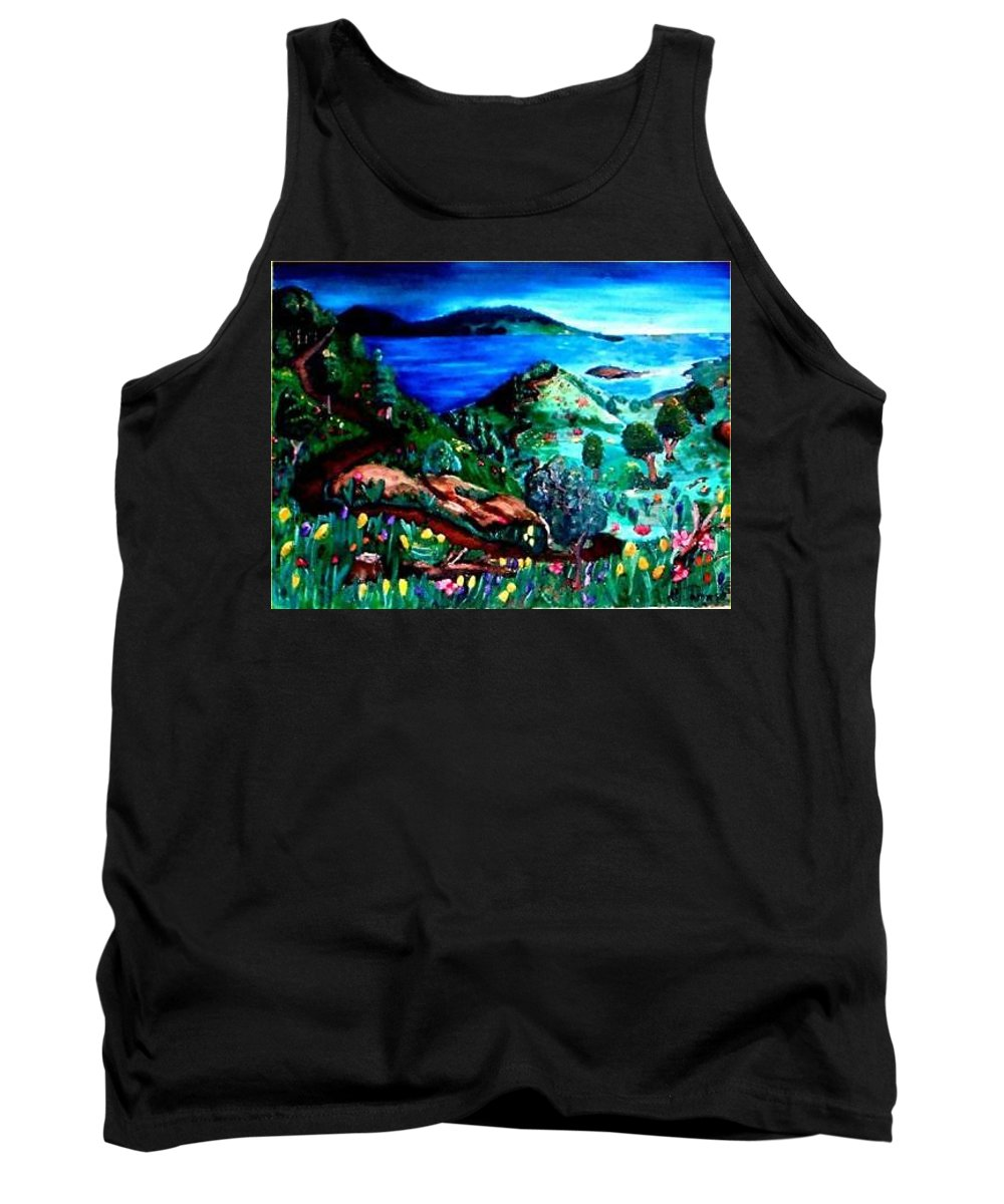 Landscape Tank Top featuring the painting Special Land by Andrew Johnson