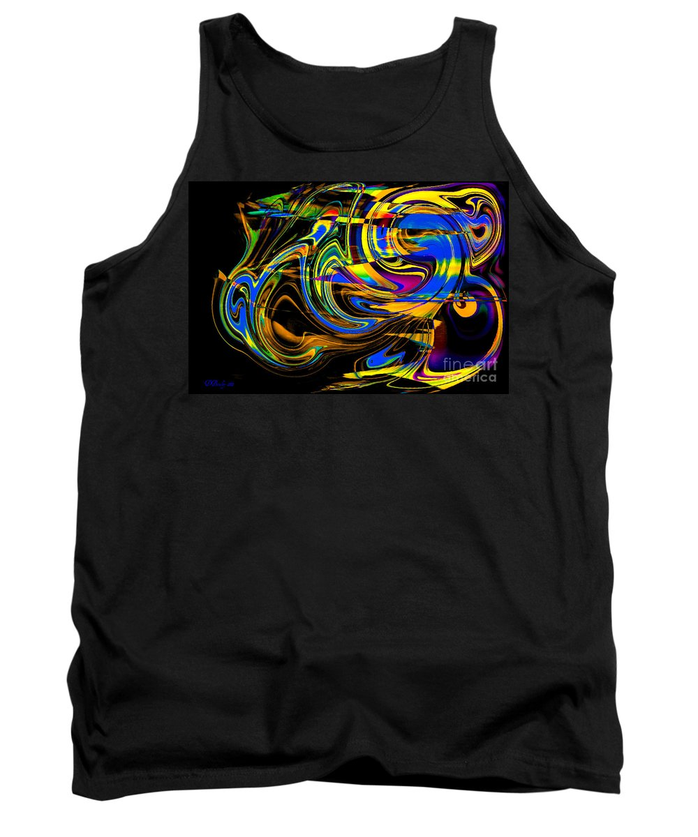 Abstract Art Tank Top featuring the digital art Speed by Donna Bentley