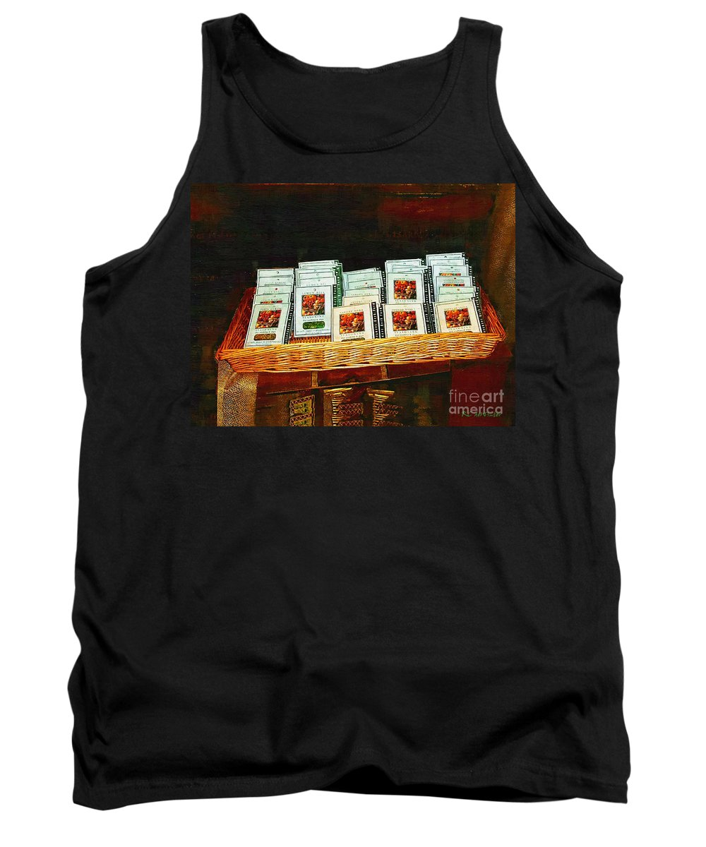 Antiques Tank Top featuring the painting Spice Island by RC DeWinter