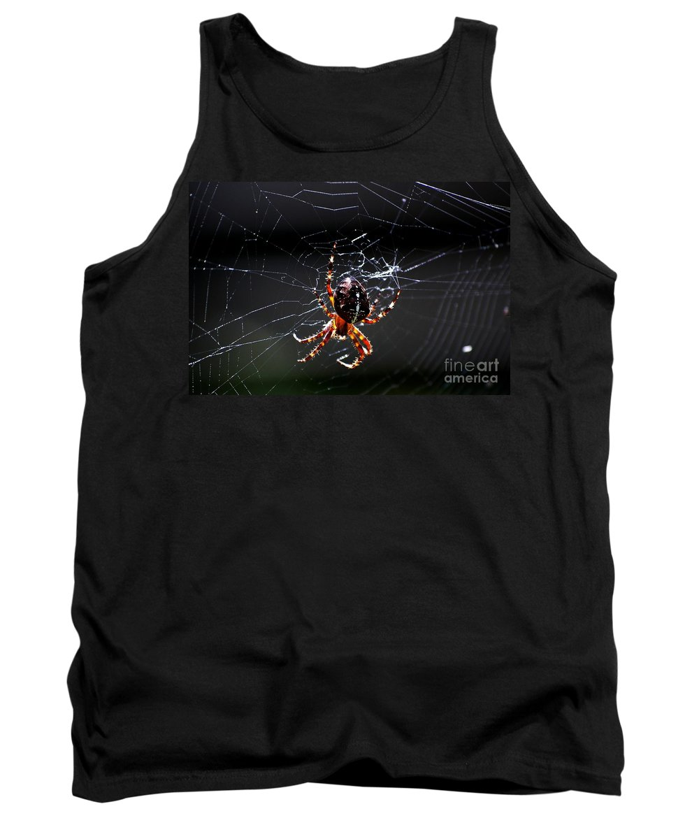 Digital Photo Tank Top featuring the photograph Spider by David Lane