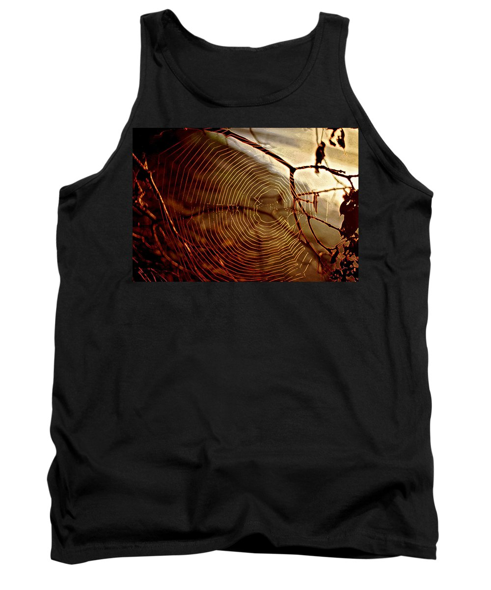 Light Tank Top featuring the photograph Spider Web by Thomas Firak