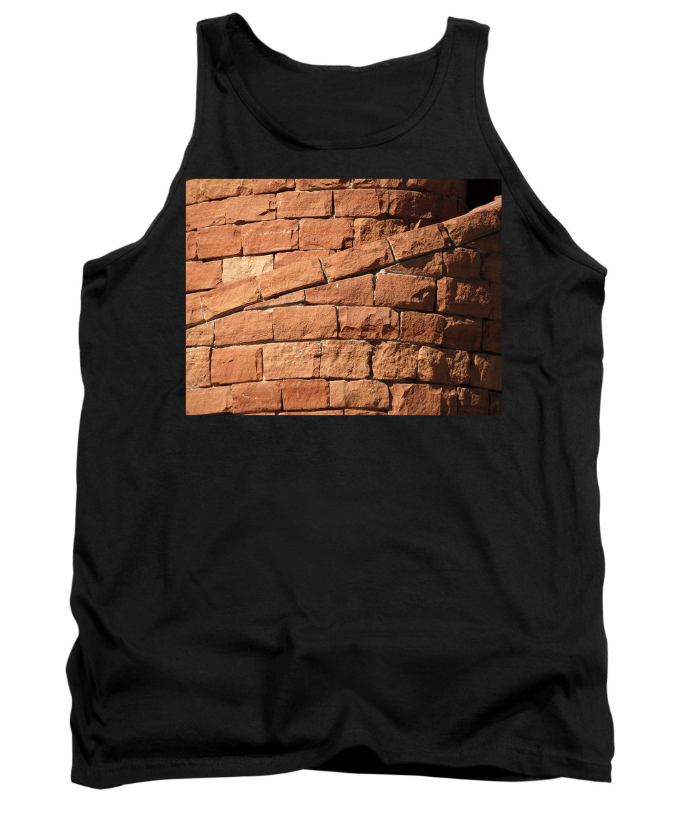 Spiral Tank Top featuring the photograph Spiral Bricks by Laurel Powell