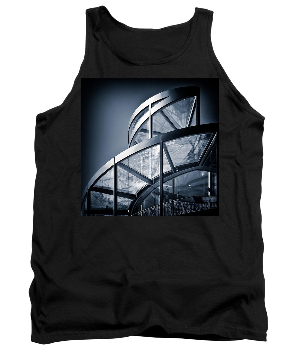 Spiral Tank Top featuring the photograph Spiral Staircase by Dave Bowman