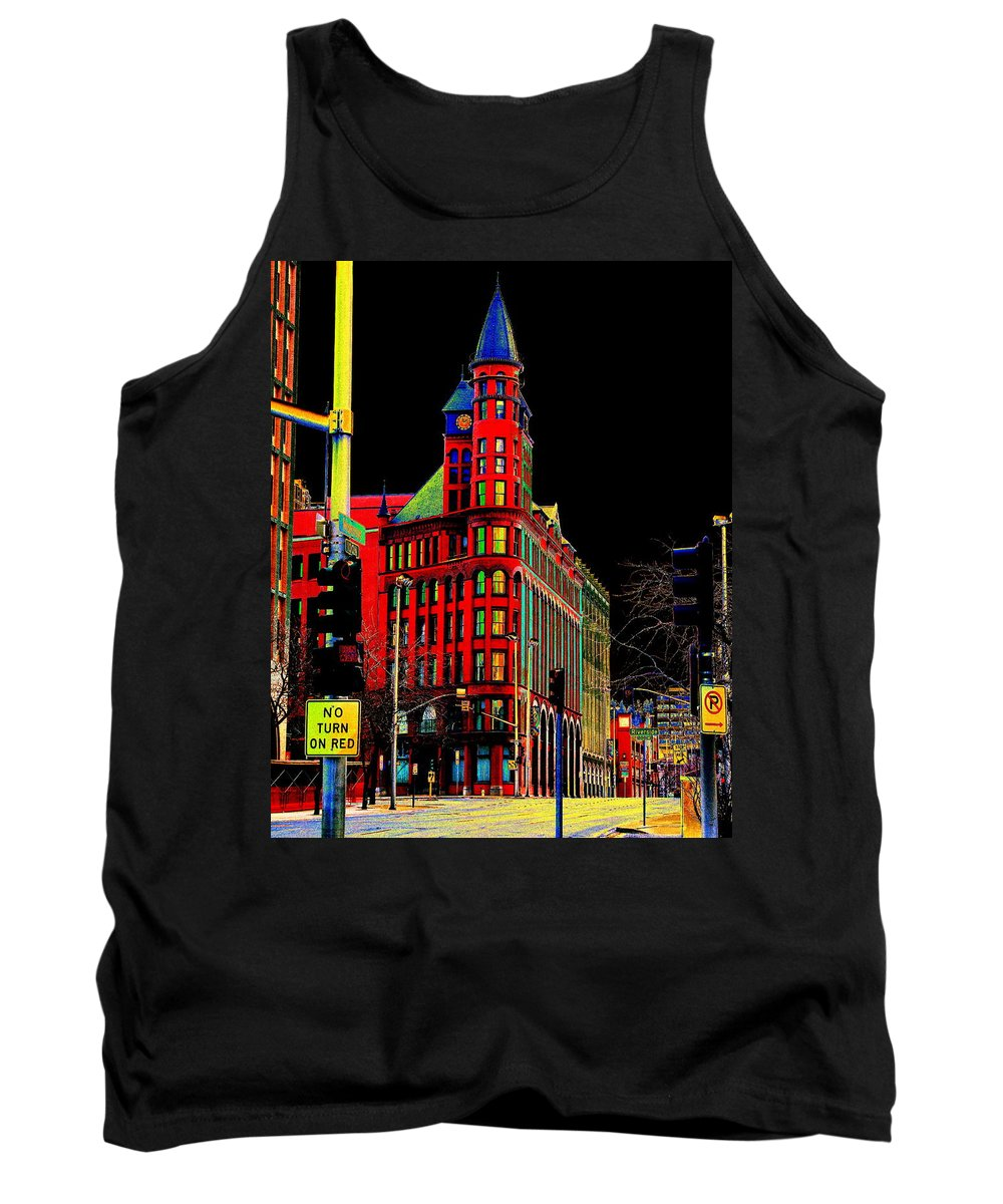 Photo Art Tank Top featuring the photograph Spokane Turns Red by Ben Upham III